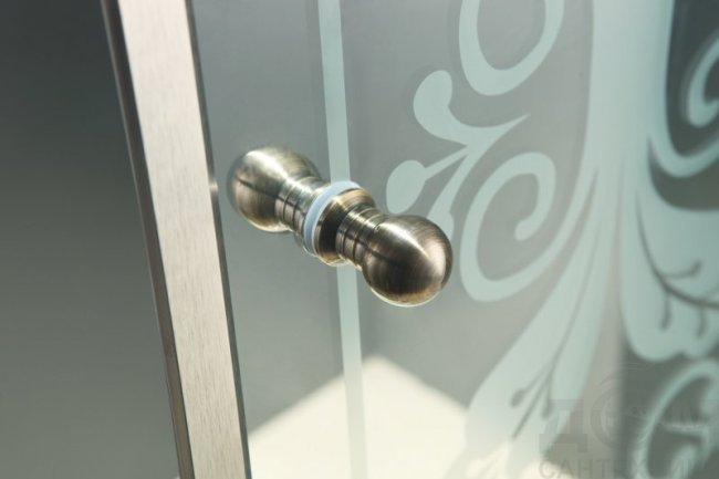 Душевой уголок Cezares Giubileo-A-2-100 стекло с узором, хром Смеситель Margaroli Classica RU1003AA01CR для биде