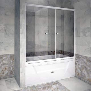 Стеклянная шторка на ванну Радомир 170 матовое стекло купить в Москве с доставкой - Дом Сантехник